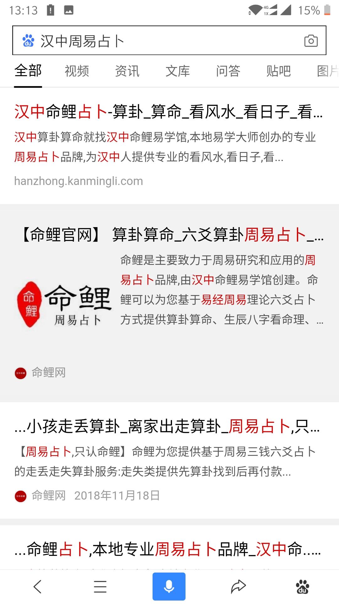 汉中SEO优化,关键词排名案例:命鲤